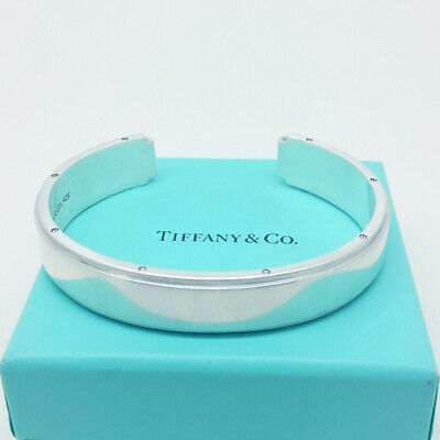 Tiffany & Co Solid Sterling Silver Metropolis Cuff - Gorgeous - Real, Assay