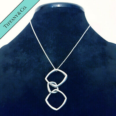 Tiffany & Co Solid Sterling Silver Frank Gehry Triple Torque Necklace Genuine