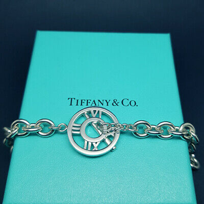 Tiffany & Co Solid Sterling Silver Atlas Pendant Necklace Lovely & Real, Assay