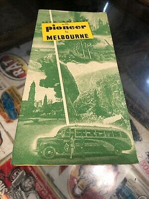 Adelaide To Melbourne With Pioneer Tourist Vintage Brochure