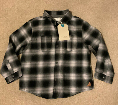 Bnwt Zara Little Boys Grey Check Shirt - Age 3 - 4