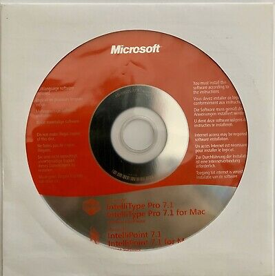 Microsoft IntelliType Pro7.1,IntelliPoint 7.1 Software PC & Mac