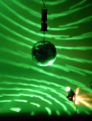 "8"" Disco Ball Motorized Green Light (Watch Video)"