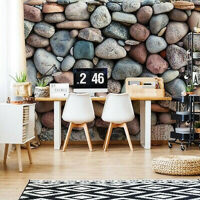 Pebble Texture Photo Wallpaper Wall Mural Fleece Easy-Install Paper