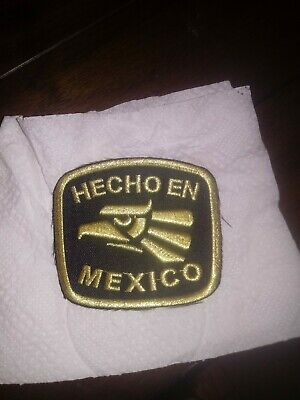 HECHO EN MEXICO Iron On Patch Made In Mexico Eagle Mexican Pride Gift Souvenirs