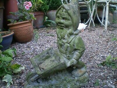 1930's Cornwall Garden Reclamation, Vintage Cornish pixie,Gnome,Nicely Weathered