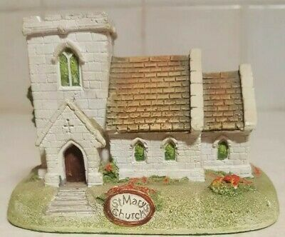 """MEMORY LANE COTTAGES """"St Marys Church"""" signed by PETER TOMLINS ENGLAND 1992"""