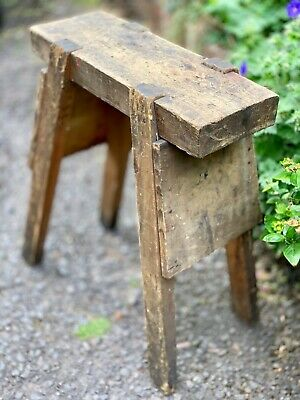 Vintage Wooden Carpenter's Horse / Bench / Rustic Man Cave Stool!