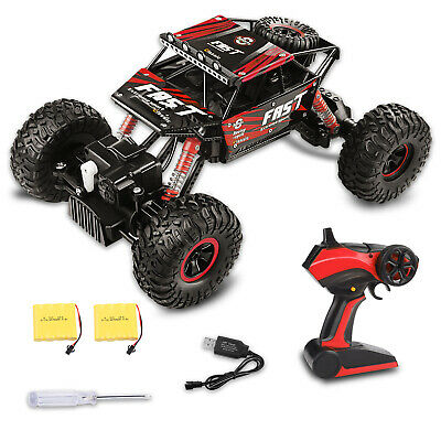 4WD RC Monster Truck Off-Road Vehicle 2.4G Remote Control Buggy Crawler Car Red