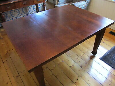 Vintage Mid Century Retro Timber Wooden Extension Dining Kitchen Wheel Table