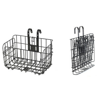 Metal Folding Bicycle  Wired Basket Steel Shopping Cage Cycling Accessories New