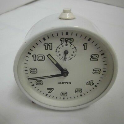 50er Years Alarm Clock Clipper Mechanical Vintage Clock 50s