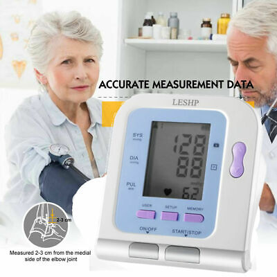 "Automatic Digital Upper Arm Blood Pressure Monitor with Large BP Cuff 2.8"" LCD"