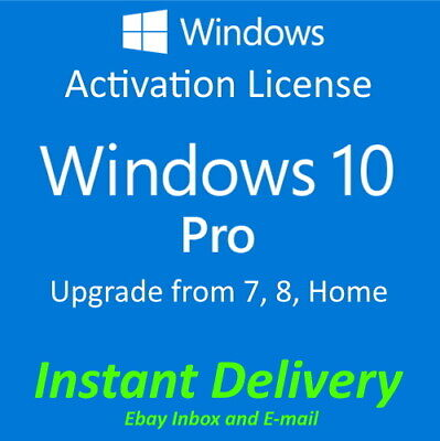 Microsoft Windows 10 Pro Professional Key 32/64 Bit