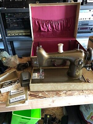 Vintage Antique Free-Westinghouse Sewing Machine Model ALB w/ Foot Pedal Manual