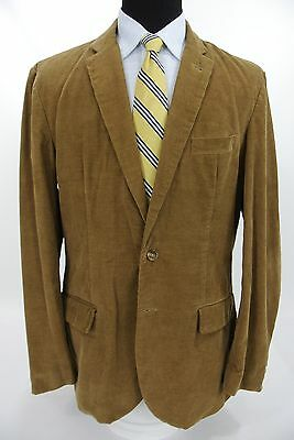 J.Crew 2 Btn Sport Coat Jacket Brown Tan Corduroy Fall '12 XLT - 45 L