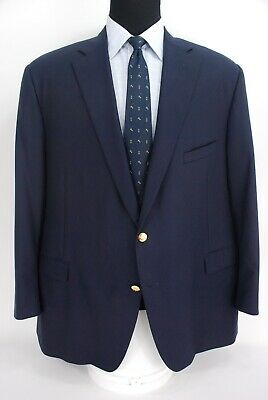 Paul Stuart 2Btn Navy Blue Wool Blazer Center Vent Men's 50L