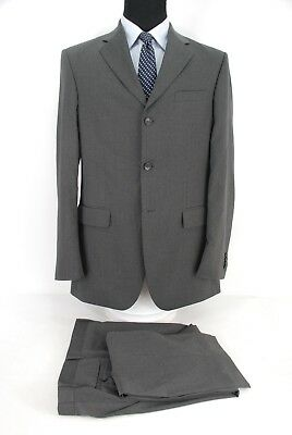 Banana Republic 3Btn Modern Fit Suit Gray 100% Wool Men's 42L