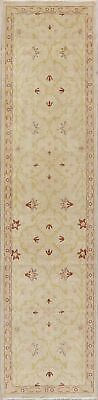 All-Over Antique Look Oushak Oriental 11 ft Runner Rug Wool Hand-Knotted 3x11