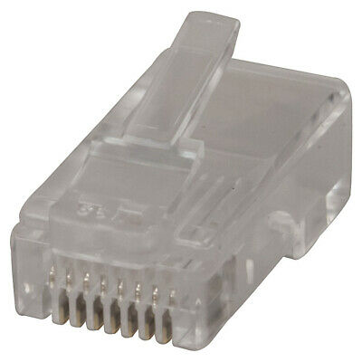 8 Pin US Type Telephone Plugs for Stranded Cable - Pk.5
