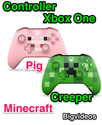 Xbox One Controller Edition Minecraft Pad Pig Creeper