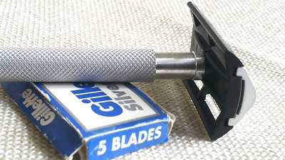 Russian Miltary Metal Handle Vintage Double Edge Safety Razor