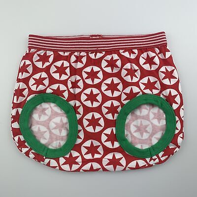 Girls,Boys size 1, Dymples, red star shorts / nappy cover, EUC