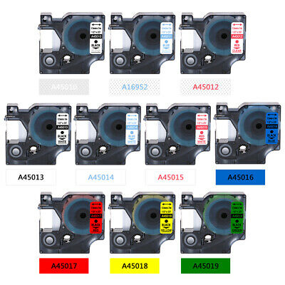 45013 Compatible Dymo D1 label Tapes multiple colour 19mm/12mm/9mm Label Manager