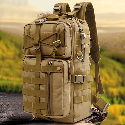 30L MOLLE Assault Pack Backpack Rucksack Military Army Tactical Bag Large Travel