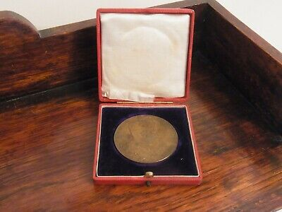 Antique Medallion Commemorating Coronation of Edward VII 1902 Royal Collectible