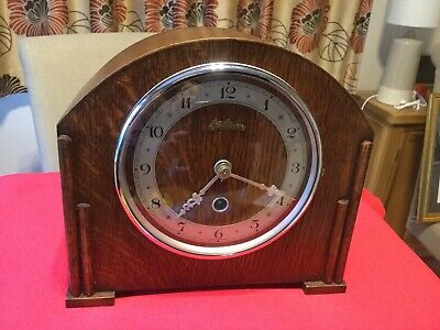 Davall Timepiece Clock. Oak Case. Passing Strike. Rare. c1937. Great Condition.