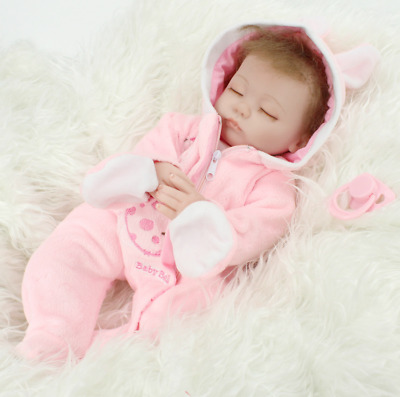 Realistic Reborn Dolls Baby Lifelike Sleeping Soft Vinyl Fake Babies Newborn Be