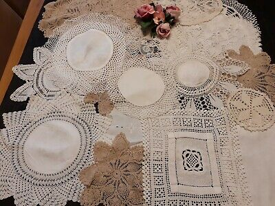 20 X Vintage Crochet Doilies.for Weddings/Crafts/Displays.