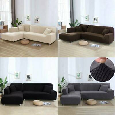 3+3 Seat Large L-Shape Stretch Sofa Slip Lounge Covers Couch Protector Slipcover