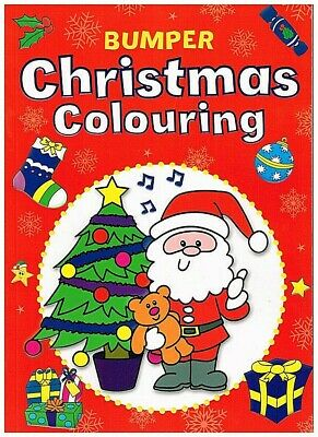 Children's Large A4 Quality Bumper Christmas Colouring Book Gift Stocking Filler