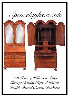 17th Century William and Mary Walnut Bureau Cabinet Secretaire  Superb Quality