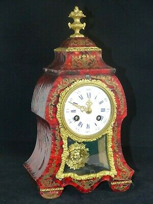 RARE Antique Mid 19th Century French Boulle faux Tortoiseshell Clock- Henry Marc