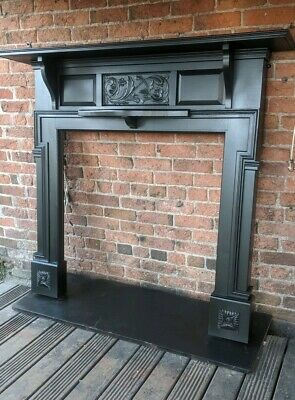 Large Antique Solid Wood  Edwardian  Fire  Surround FREE  DELIVERY or £35UK