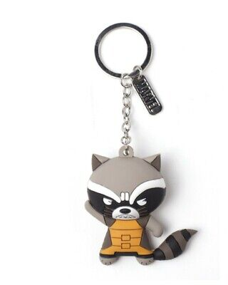 Marvel Guardians of the Galaxy Rocket Raccoon 3D Rubber Keyring / Keychain