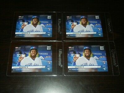 Vladimir Guerrero Jr. 2019 Topps NOW MOW4 Moment of the Week 4 RC 4 card LOT