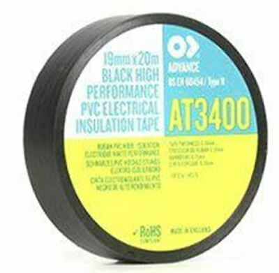 Advance Tapes AT34 Black Electrical Tape 25mm x 20m AT34 BLACK 25MM X 20M 0.19mm