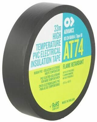 Advance Tapes AT74 Black Electrical Tape 19mm x 33m PVC 0.15mm Rubber Resin 9500