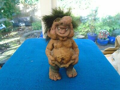 Vintage Norwegian Nyform Troll With Nose & Tail - Ugly But Loveable