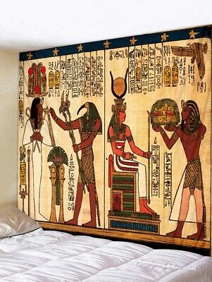 Ancient Egypt Tapestry Wall Hanging Throw Psychedlic Tapestry Home Bedspread Dec