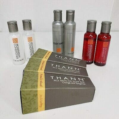 Thann Lot of Assorted Travel Size Soap Shampoo Conditioner Shower Gel Body Wash
