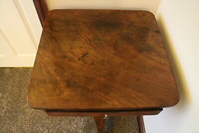 Antique George III  mahogany  side table with draw