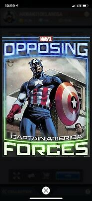 Topps Marvel Collect Opposing Forces Week 1 Captain America Red Skull Tilt OF