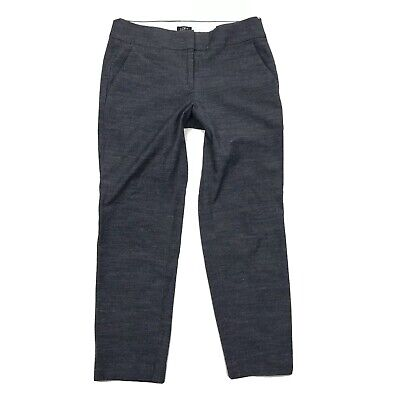 Loft Pants Size 6 Womens Blue Chambray Julie Trouser Skinny Ankle Stretch Career