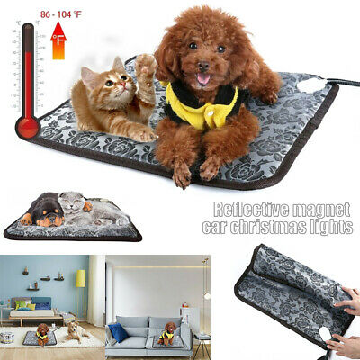 Pet Dog Cat Warmer Bed Heating Warming Blanket Electric Heat Pad Mat Waterproof