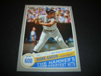 HANK AARON 2019 TOPPS HERITAGE HIGH#'s-THE HAMMERS GREATEST HITS #THGH 9